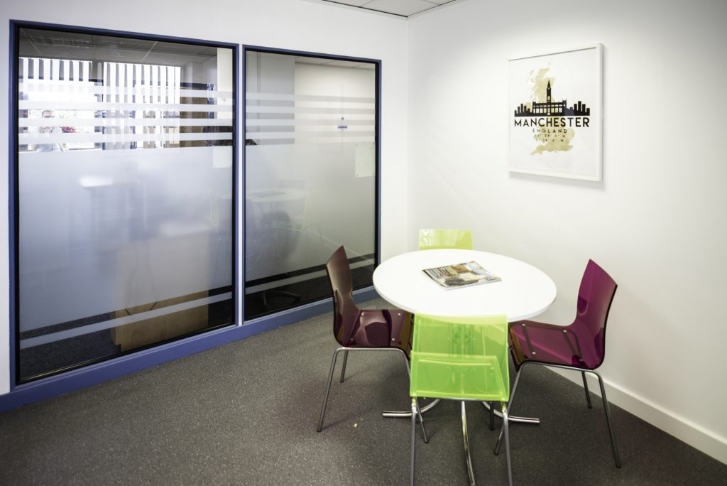 Citibase Manchester Old Trafford Office breakout space